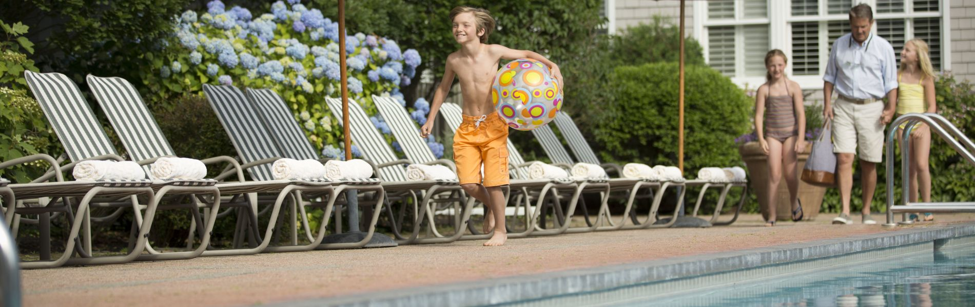 Martha's Vineyard Amenities - Enjoy Poolside Access from your private Martha's Vineyard Home at the Captain's Cottages