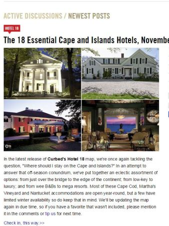Curbed, 18 Essential Cape Hotels